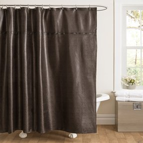 Faux Leather Shower Curtain 3