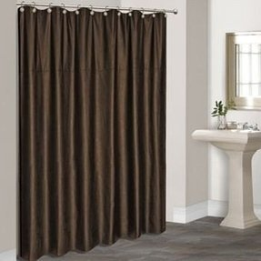 Faux leather shower curtain 6