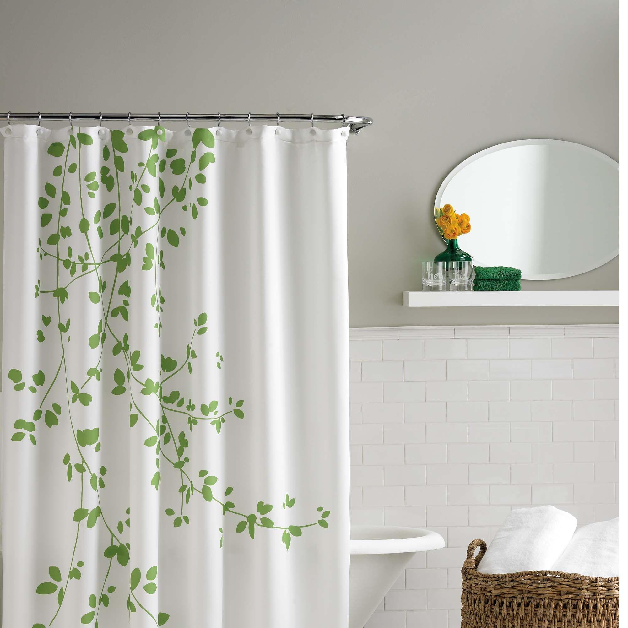 Incroyable Green Leaf Shower Curtain