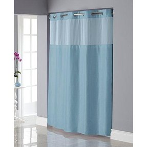 Hookless shiny texture herringbone shower curtain with snap in peva
