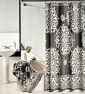 Ivory shower curtain 1