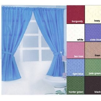 Lauren Diamond Dot Water Resistant Bathroom Window Curtain By Carnation