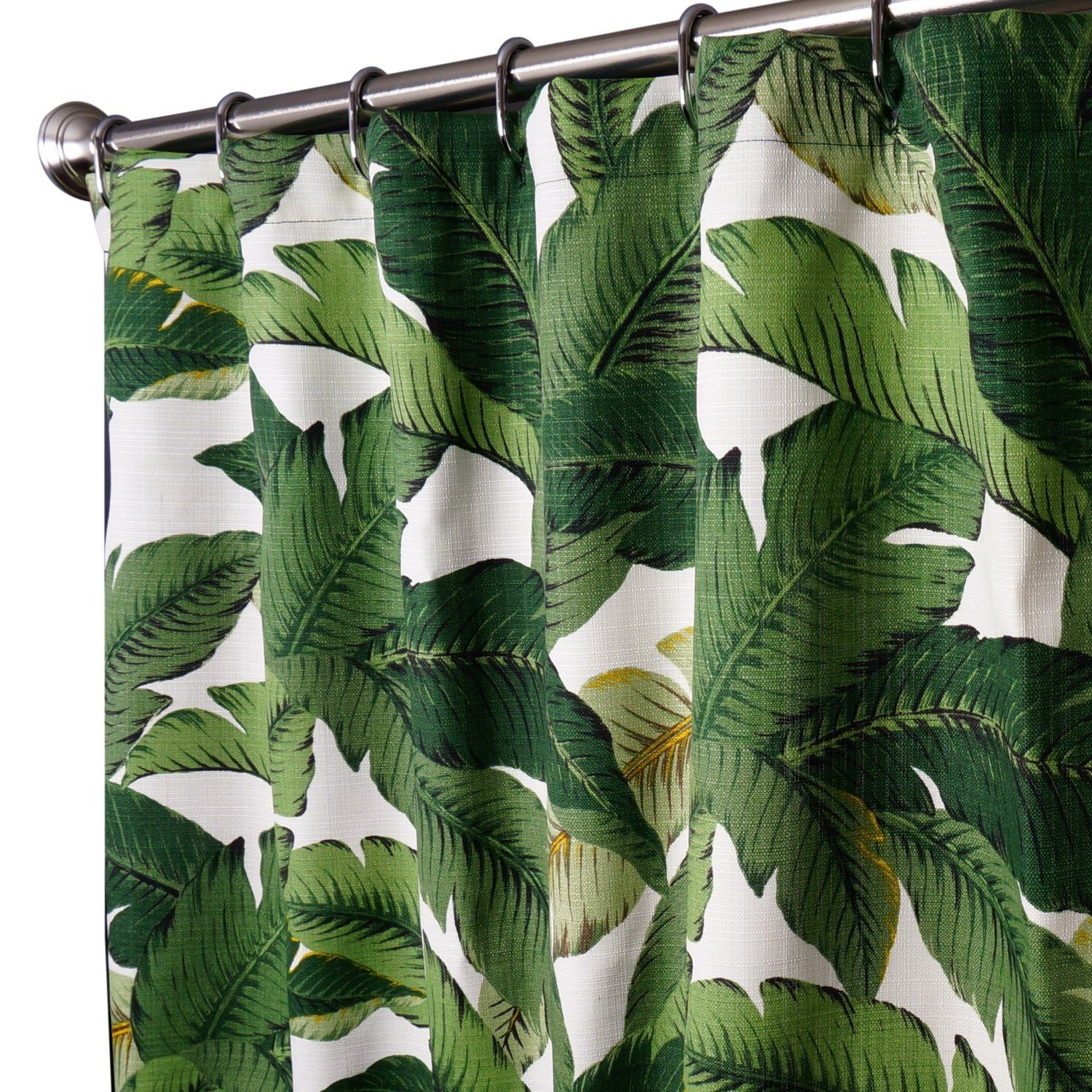 Delicieux Leaves Fabric Shower Curtain 6