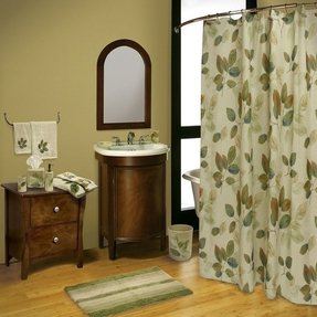 Leaves fabric shower curtain 8