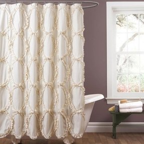 Lush Decor Riviera Ivory Shower Curtain