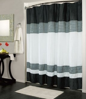 Luxury fabric shower curtain 13