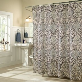 curtain polyester shower amazon lady bathrooms shadow dp sexy woman curtains beautiful com showering luxury