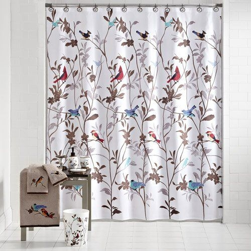 Mainstays birds in nature fabric shower curtain 1