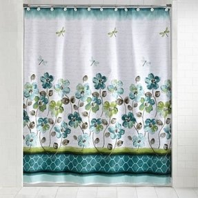 Mainstays Dragonfly Shower Curtain And Hook Set