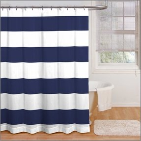 navy and yellow shower curtain. Navy And White Striped Shower Curtain Blue Shower Curtains  Foter