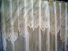 Wet Room Shower Curtains >> Valance Lace Shower Curtain - Foter