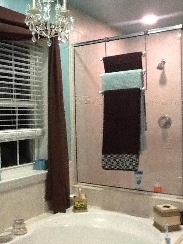Attirant Over Shower Door Towel Rack   Foter