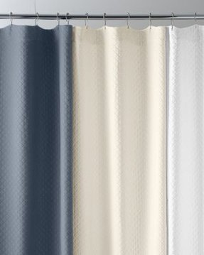 Pima Cotton Matelasse Shower Curtain In White