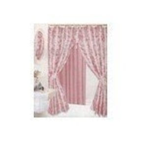 Pink swag shower curtain idea not available