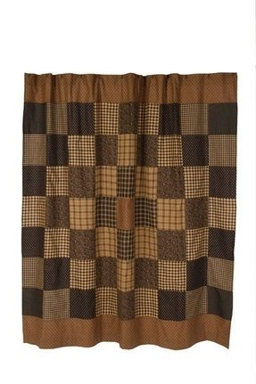 Plaid shower curtain 1