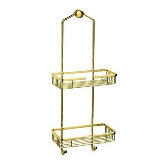 Polished brass shower caddy 2