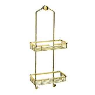 Polished brass shower caddy