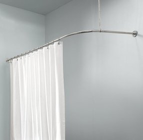Polished nickel shower curtain rod 2