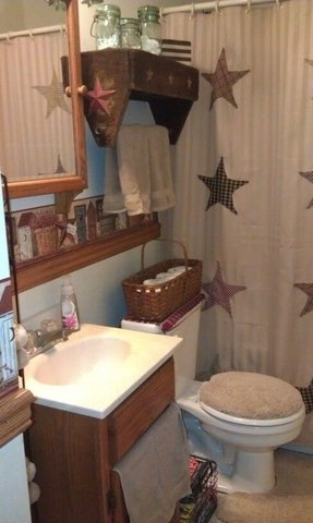 Primitive Shower Curtains 23 My Country Bathroom