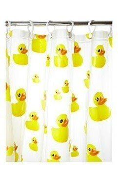 Beau Rubber Duck Shower Curtain