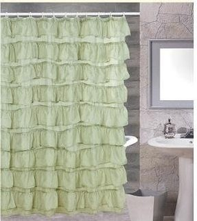Sage green shower curtain 9