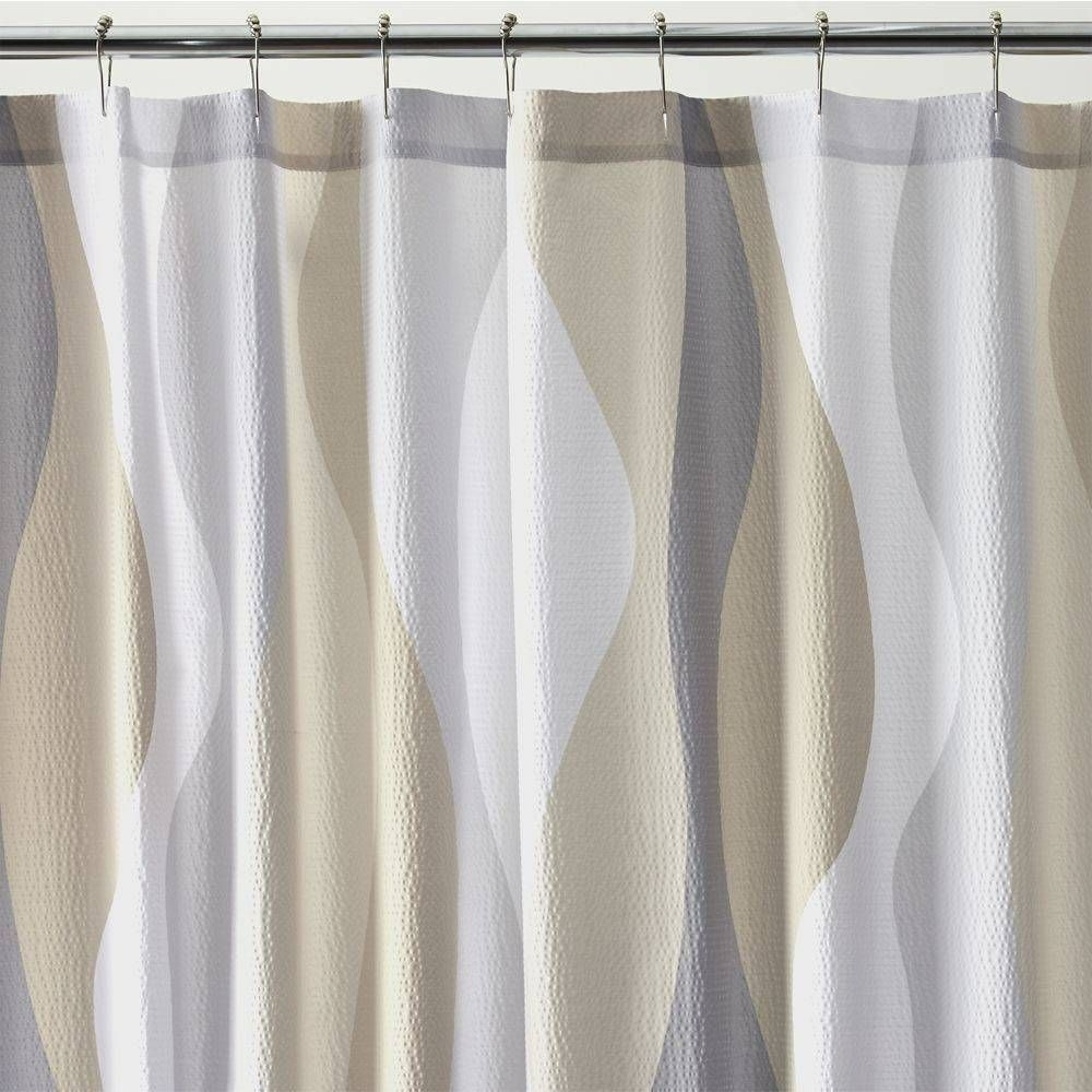 Delightful Seersucker Shower Curtain 14