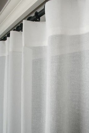 Sheer Fabric Shower Curtain - Foter