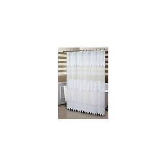 Sheer shower curtain fabric