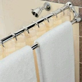 Shower curtain rod holders 2