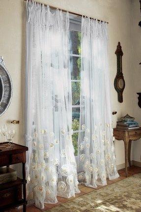 Sheer Fabric Shower Curtain - Foter