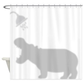 Silhouette shower curtain 1