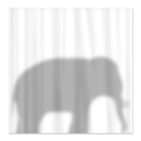 Silhouette shower curtain 2