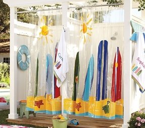 Surfing Shower Curtain Foter