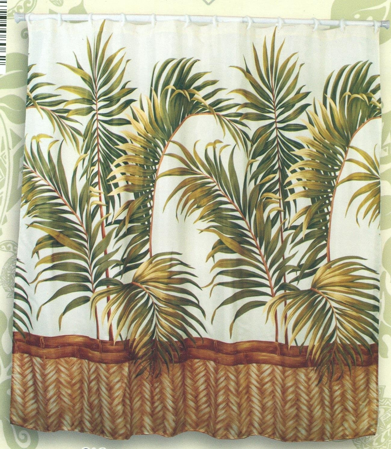 Tropical Fabric Shower Curtain - Foter