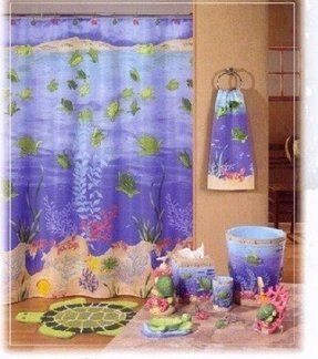 Turtle shower curtain 9