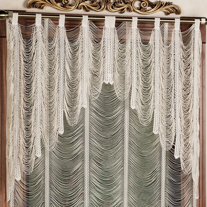 Valance Lace Shower Curtain 1
