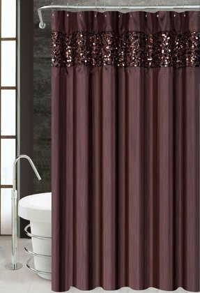 Vegas brown luxury fabric shower curtain bathroom accessories 70 x