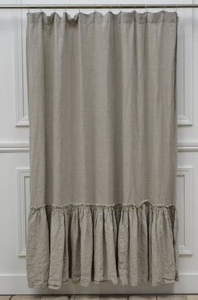 Vintage ruffle shower curtain 72w x 76l