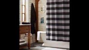 Black Striped Shower Curtain