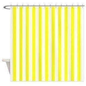 Yellow Stripe Shower Curtain - Foter