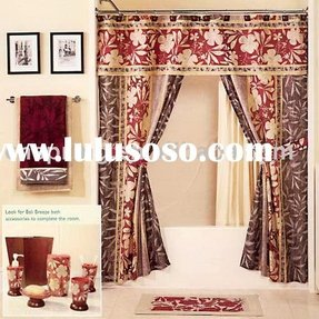 100 Polyester Double Swag Shower Curtain