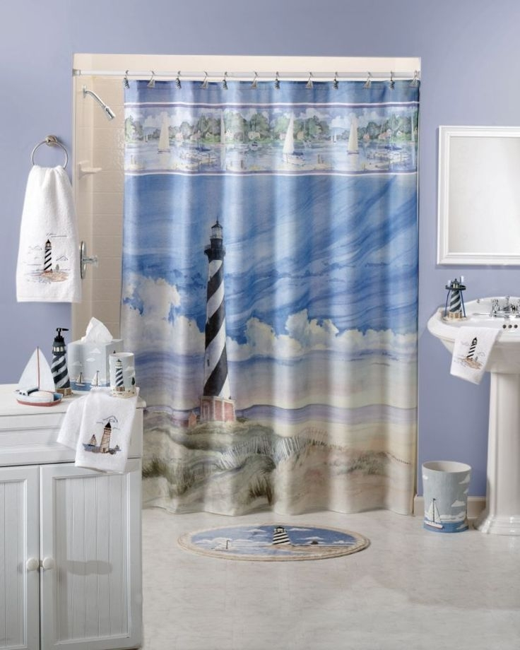 Delicieux About Lighthouse Fabric Shower Curtain Bath Ocean Beach Sea Nautical