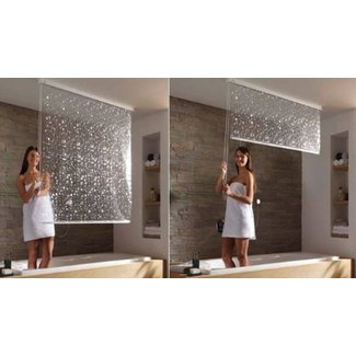 Bathroom Window Shower Curtains 1