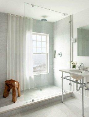 Bathroom Window Shower Curtains