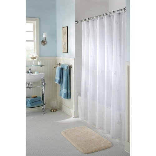 Better homes and gardens sheer jolie shower curtain
