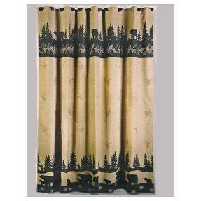 Black Bear Shower Curtains 8