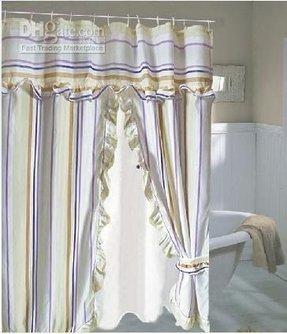 utube how to make ruffled swag shower curtains