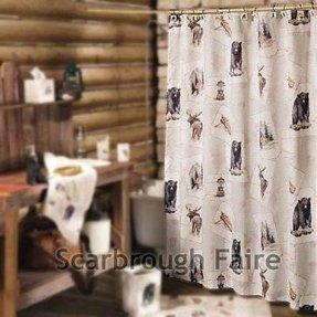 Moose Bear Shower Curtain Foter