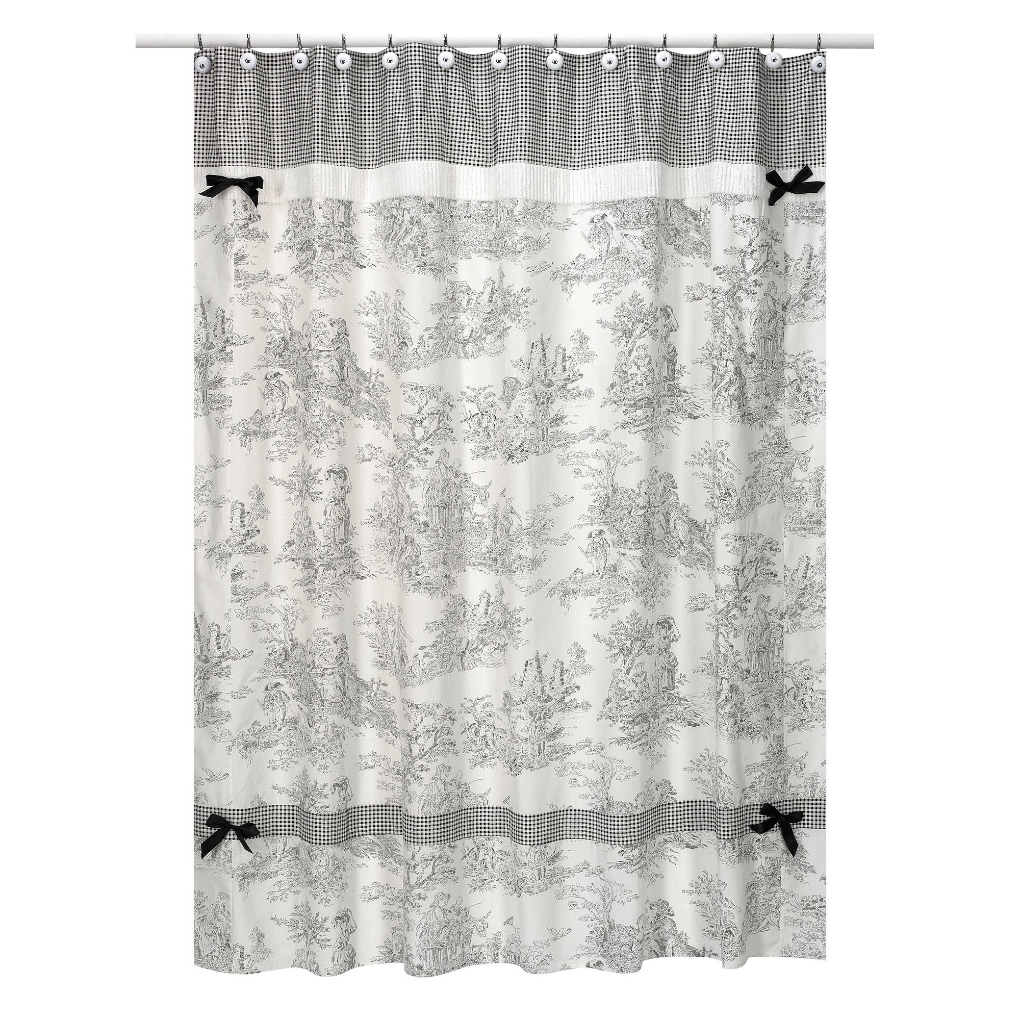 Charmant Country Fabric Shower Curtains 23