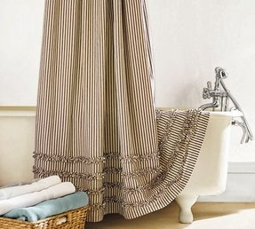 Country fabric shower curtains 9